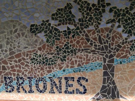 Martinez Briones Alternative School Mosaic Sign.